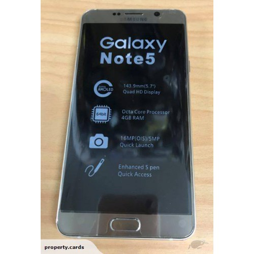 Samsung Galaxy Note 5 32GB Gold Platinum In Original Box FREE SHIPPING