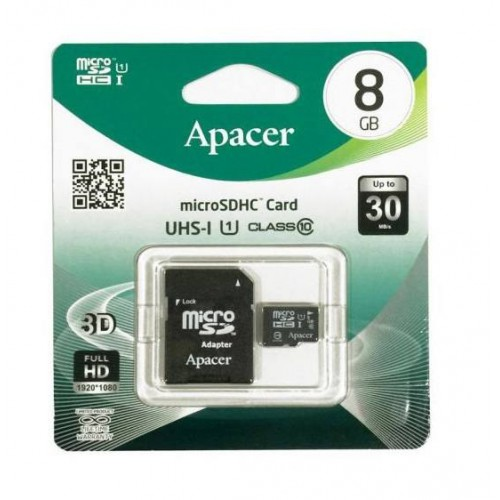 BRAND NEW Apacer 8GB Micro SD Card